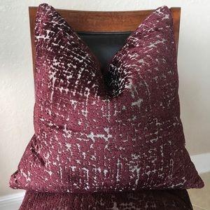 Jacquard Velvet All Over Textured Pillow Burgundy